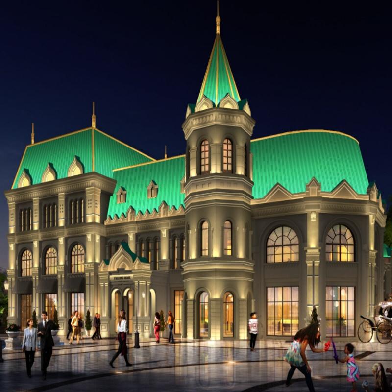 仿俄羅斯建筑亮化,融入東歐風情,感受異國的別樣燈光魅力